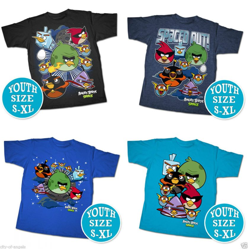 Angry Birds Space T Shirt Youth Kids SM M L XL Official Licensed Funny