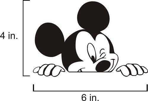 Disney Backseat Peeping Mickey Mouse Vinyl Car Decal
