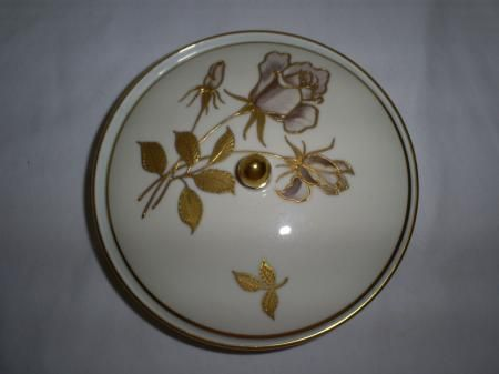 Hertel Jacob Rehau Bavaria Germany Porcelain Covered Bowl