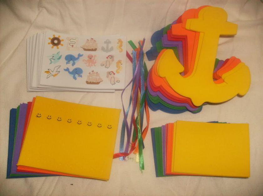 12) Foam Craft Kits Jesus on water/ Sea Bible/ Anchor