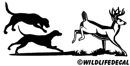 Deer and Deer Dogs MD Wildlife Hunting Stickers 6