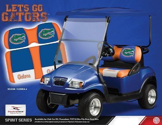 FLORIDA GATOR GOLF CART SEAT NEW SEAT SET CS F