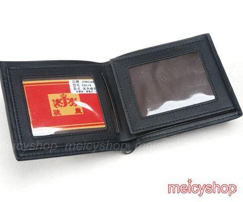 Black Mens Design Leather Wallet Purse Coin Bag #101
