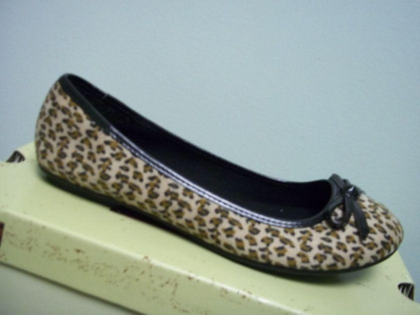ARIZONA Womens Tan Brown Black Leopard Slip On Casual Shoes Flats 7 M